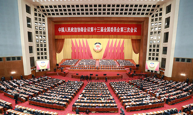 China's top political advisory body holds closing meeting of annual session